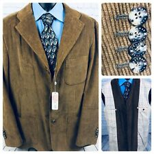 Hickey Freeman Brown Corduroy Sport Coat Jacket Mens XL NWT