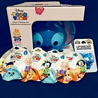 Disney Tsum Tsum Stack N Display Stitch Carry Case +4 Mystery Pack +1 Lip Balm