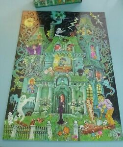 Vtg 1973 Springbok House On Haunted Hill Childrens Puzzle 100 Pieces COMPLETE