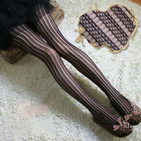 Hot Women Ladies Black Sexy Fishnet Pattern Jacquard Stockings Pantyhose Tight