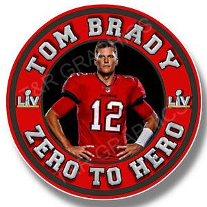 Tampa Bay Buccaneers Tom Brady Zero to Hero Vinyl Sticker, Decal NFL Football