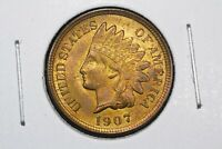 1907 Indian Head Cent,  Choice BU RB