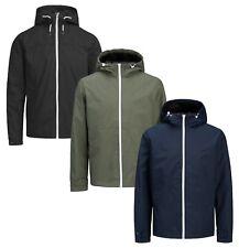 Jack & Jones Men's Lightweight Hooded Jacket Casual Nylon Coat Black Green Blue