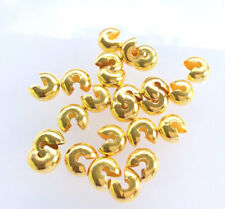 50 pcs Jewelry supplies-Crimp Bead cover Gold plated 9mm