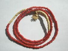 Antique Venetian White Heart Pony Trade Beads - 3.5mm - Strand
