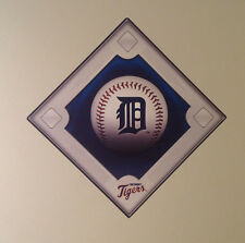 """Detroit Tigers FATHEAD Official Team Diamond Graphic 18"""" x 18"""" MLB Wall Decal"""