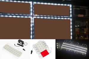LEDUPDATES 60ft Bright White STOREFRONT WINDOW 5050 LED LIGHT with UL 12v Power