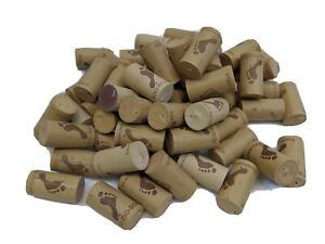 """WINE CORKS 50 COUNT USED BROWN MOSTLY BAREFOOT FOR CRAFTS OR DECOR  1.5"""""""