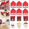 Christmas Chair Cover Santa Hat Xmas Party Dinner Seat Case Covers Decorations