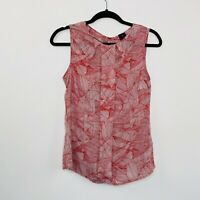 David Lawrence Top Blouse Silk Viscose Blend Red Size 10