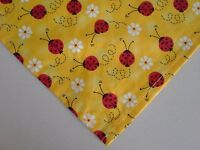 Dog Bandana/Scarf Tie On Lady Bugs Daisies Custom Made by Linda xS, S, L