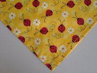 Dog Bandana/Scarf Tie On Lady Bugs Daisies Custom Made by Linda xS, S, L