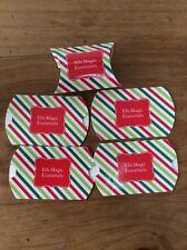 5 christmas elf shelf santa cardboard gift box stripe red green Candy Cane