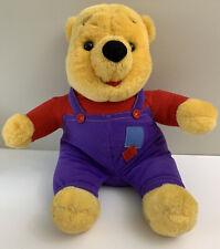Vtg 1997 Disney Mattel Winnie the Pooh Bear Plush Talk Nose Wiggle Laugh Honey