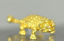 COOL ANKYLOSAURUS 3D Gold Plated over Real Silver .925 Dinosaur Charm pendant Je