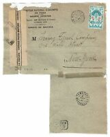 Madagascar 1944 Censored Cover to USA, Pasted to Album Page -  Lot 101717