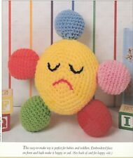 Crochet Pattern Only - Happy Sad Baby Toy - Smile on one side, Frown on other