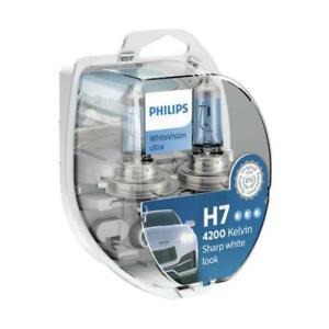 Philips 12972WVUSM 12V 55W Car Bulbs WhiteVision ultra H7