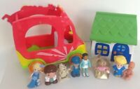 Toy Bus,House And Figures Bundle. Different Makes Shopkins