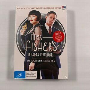 Miss Fisher's Murder Mysteries: Series 1-2 SEALED (DVD 2014 9 disc-set) Region 4