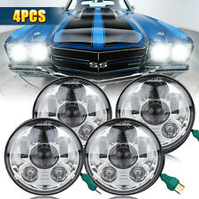"""5 3/4"""" Round Sealed LED Headlights For Chevy Corvette Caprice New Yorker Impala"""