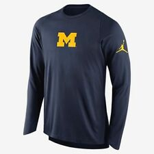 dc66ed094edb Air Jordan Michigan Wolverines Long Sleeve Shooting Shirt Jersey Size Men s  L