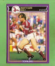 1987  MANLY SEA EAGLES SCANLENS RUGBY LEAGUE CARD #67 MARTY GURR