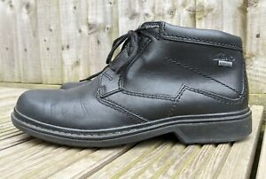 CLARKS ACTIVE AIR MEN'S GORE-TEX ANKLE BLACK LEATHER SHOES BOOTS SIZE UK 9G