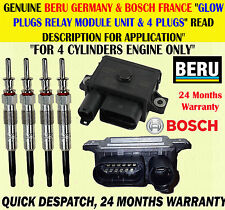 FOR 3 SERIES 318D 318TD 320D 320CD 2.0D GLOW PLUG X4 & RELAY CONTROL MODULE UNIT