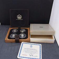 4 monete 1973 Olympia MONTREAL 1976 canada argento 925 PP