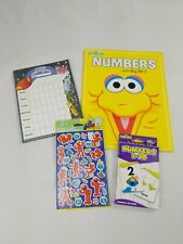 Sesame Street Numbers Book Flash Cards Elmo Stickers Grooming Chart learning
