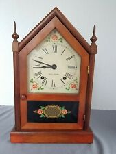 "Beautiful VTG  50s Seth Thomas USA Cottage Clock 8 Day 14"" Sharon 7W with Key"