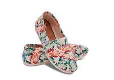 NEW TOMS Women Classic Tropical Floral Burlap Shoes 10006167 Size 7