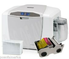 Fargo HID C50 PVC CARD PRINTER Kit Single Sided USB 51700 Ribbon and Cards NEW