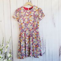Forever 21 90's Style Floral Short Sleeve Midi Dress Size Small 100% Rayon NWT