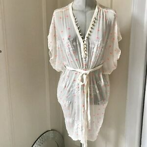 twelfth street by cynthia vincent dress see through embroidered Size S silk
