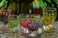 Nachtmann schwere Bleikristall 7 Likörgläser und 2 Wassergläser Bunt Vintage 6