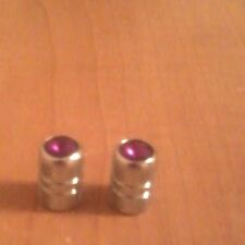 Chrome Silver Violet Jeweled Valve Stem Covers/Caps For Schwinn, Huffy