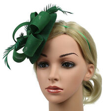 Race Wedding Womens Feather Pillbox Hat Fascinator Derby Party Headband Clip