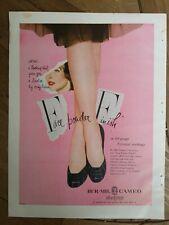 1950 Mujer Bur-Mil Camafeo las Medias Medias Lovelier Pierna Complexión Anuncio