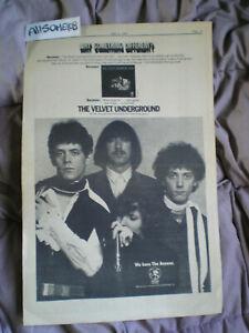 2-Lot! Velvet Underground 1969 Vintage 11 X 17 Promo POSTER Ad+ Lou Reed 1982 Ad