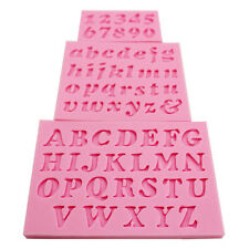 3pcs/set Mini Letter&Number Silicone Fondant Cake Cookie Candy Mold DIY Mould PF