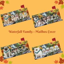 Scenic Waterfall Mailbox Cover, Dog, Cats, Pet Photo Lovers Outdoor Decor Gift