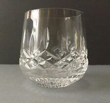 One WATERFORD LISMORE Royl Poly Old fashioned Glass 3  3/8 in. Mint FREE SHIP