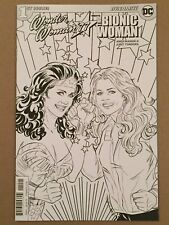 WONDER WOMAN '77 MEETS THE BIONIC WOMAN #1 COLORING BOOK VARIANT COVER NM 2016