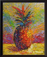 Hawaiian Pineapple Tropical Fruit Pineapple Van Gogh Starry Night Wall Art A058