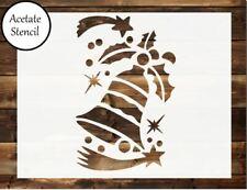 Bell stencil, Christmas Stencil, Card making, Airbrush, Craft Stencil