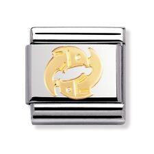 BRAND NEW GENUINE NOMINATION CLASSIC 18ct GOLD PISCES ZODIAC ITALIAN CHARM