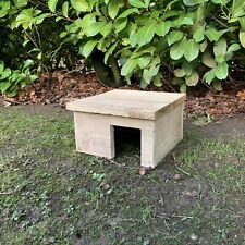 More details for wooden hedgehog house hibernation nesting box 100% recycled reclaimed materials
