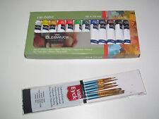 Coffret Set Assortiment x12 Tube Peinture Huile 12 ml Paint + Set x6 Pinceaux
